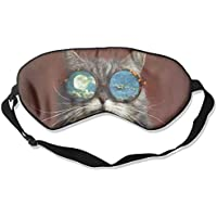 Artistic Cat Cool With Glasses Sleep Eyes Masks - Comfortable Sleeping Mask Eye Cover For Travelling Night Noon... preisvergleich bei billige-tabletten.eu