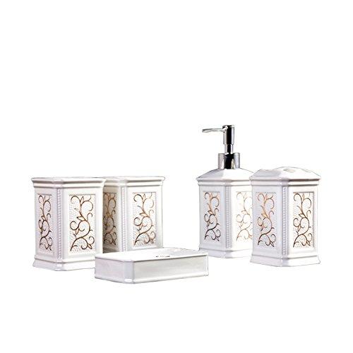 Glas-antik-zahnbürste-halter (Yvonnelee Keramik Badezimmerset Serie Bad Accessoire Set WC Set Lotion-Flaschen Seifenschale)