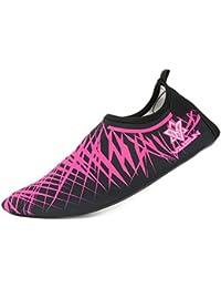 Unisex Aquaschuhe Strandschuhe, Weiche schnelltrockene rutschfeste Schwimmschuhe geeignet für Tauchen Schnorcheln Schwimmen, für Damen & Herren, Erwachsene & Kinder