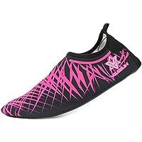 Unisex Aquaschuhe Strandschuhe, Weiche schnelltrockene rutschfeste Schwimmschuhe geeignet für Tauchen Schnorcheln Schwimmen, Yoga Schuhe für Damen & Herren, Erwachsene & Kinder