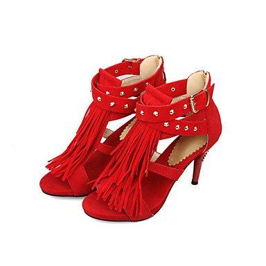 LvYuan Da donna-Sandali-Matrimonio Ufficio e lavoro Casual-Innovativo Club Shoes-A stiletto-Felpato Materiali personalizzati-Nero Blu Viola Rosso Purple