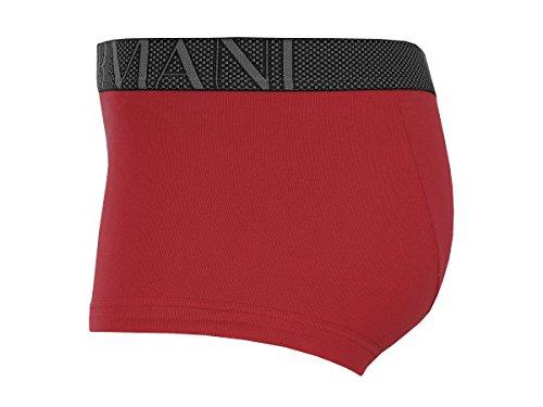 Emporio Armani Herren Boxershorts Trunk 2er Pack 7A723 24874 Tango Red/Melan Grey