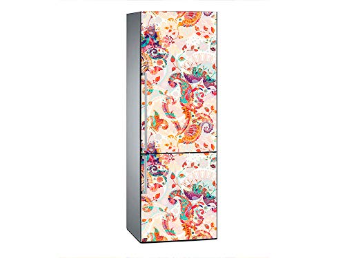 Oedim Pegatinas Vinilo para Frigorífico Colage | 185x60cm | Adhesivo Resistente y de Fácil Aplicación | Pegatina Adhesiva Decorativa de Diseño Elegante