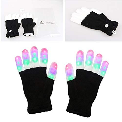 Cuigu Leichte Handschuhe, LED-Fingerhandschuhe, Handwärmer-Handschuhe-Geschenk Für Lightshow Dance Christmas Party
