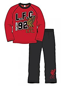 OFFICIAL LIVERPOOL FC CRESTED kids LONG SLEEVE PYJAMAS age 9/10 years by liverpool fc/red amos 10 collectibles