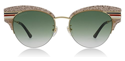 Gucci Occhiali da sole GG0283S NUDE/GREEN SHADED donna