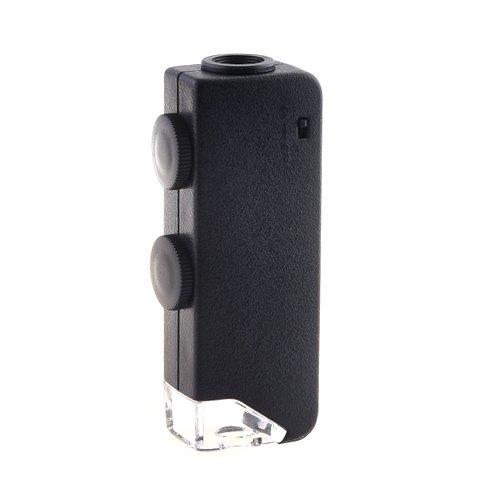 KKmoon LED Taschen Mikroskop 60x - 100x Lupe Vergrößerungsglas
