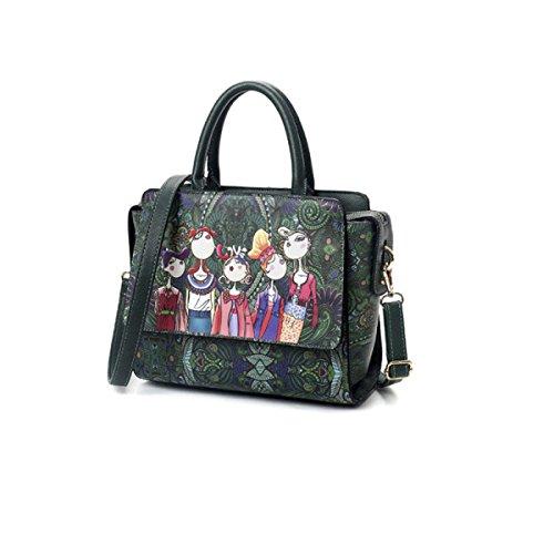 2017 Neue Weibliche Tasche Koreanische Version Mode Schultertasche PU Druck Handtasche Messenger Bag Multi