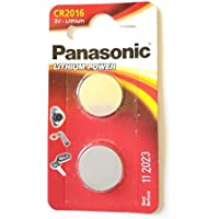Panasonic Pack Of 2 Lithium CR2016 3V batteries Coin Cell Multi-Purpose New by Panasonic