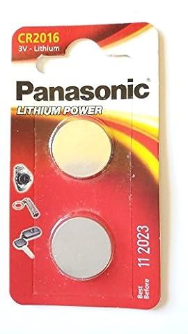 Panasonic, 2er Pack (2 X CR2016 3V Lithium Batterie Knopfzelle