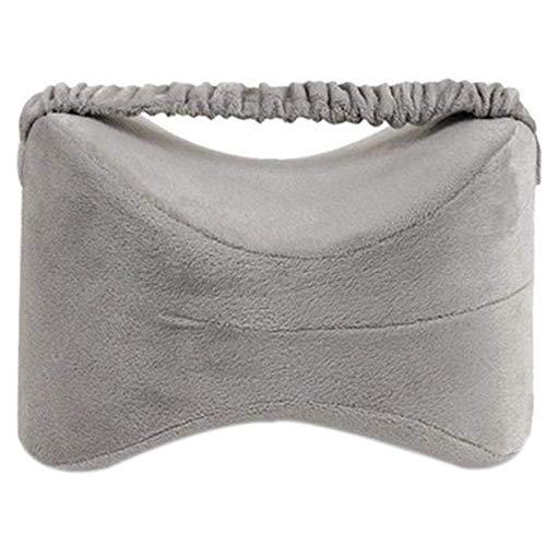 Meigirlxy Ortopedico cuscino per ginocchia per sciatica sollievo e dormire, Memory foam Leg cuscino per chi dorme sul fianco e gravidanza, 280* 228MM, grigio