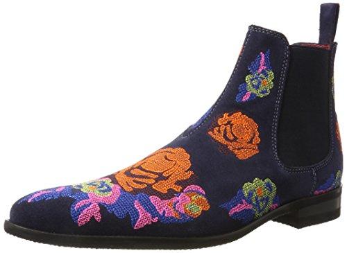 Melvin & Hamilton Herren Toni 7 Chelsea Boots, Mehrfarbig (Suede Navy/Embr. Orange Blue Multi, Modica Dk. Grey), 45 EU (Blue Boot Suede)