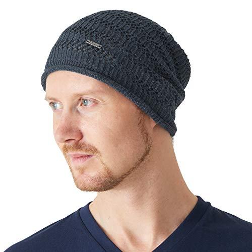 CHARM Casualbox Natürlich Hanf Beanie Leinen Stricken Hut Atmungsaktiv Schweiß Absorbierend Hipster Masche Mode Für Männer Und Frauen Navy