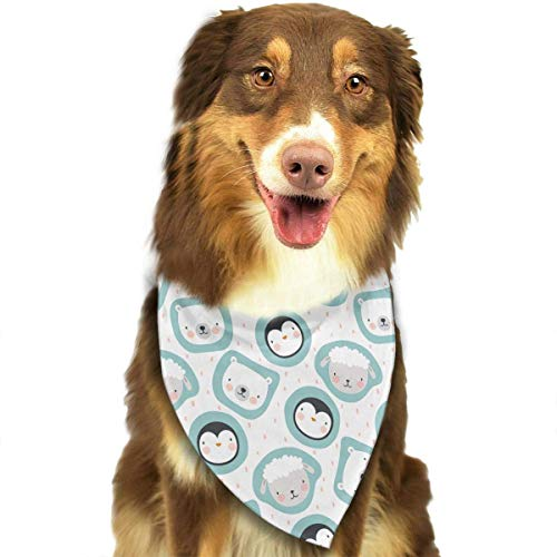 Wfispiy Penguin Sheep and Bear Pet Dog Bandanas Triangle Bibs Scarf Accessories for Medium to Large Size (Sheep Dog Kostüm)