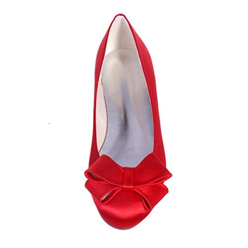 Élégante Haute Shoes9872-23 Femmes Chaussures Printemps Eté Silk Automne Chaussures De Mariage & Nuit Et Fêtes Et Robes De Soirée Bleu