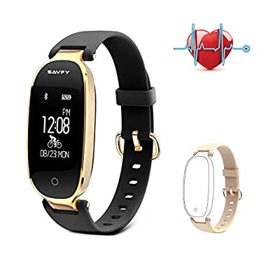 SAVFY Fitness Tracker for Women Waterproof IP67 Sleep Monitoring Smart Watch Activity Tracker and Heart Rate Monitors for Android & IOS Smartphone, iPhone, Samsung from SAVFY