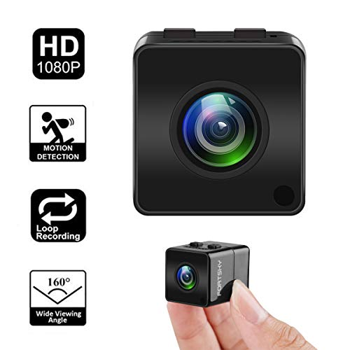 eye Firefly HD 1080P Spion versteckte Kamera mit DVR FOV160 °eingebautem Mikrofon für Heim- und Outdoor-Sport ()