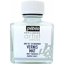 Pébéo Peinture Vernis Acrylique Phase Aqueuse 1 Flacon de 75 ml Mat