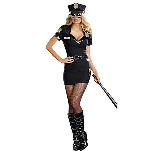 play Sexy Weiblichen Offizier Uniform Nightclub Policewoman Kostüm Polizei Ausrüstung Performance Corpse Vorbereiten Für Mädchen,A (Polizei Halloween-kostüm Für Frauen)