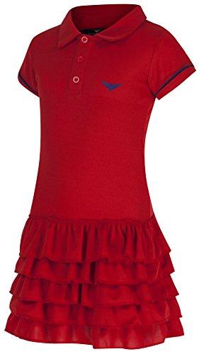 Mädchen Rot Tennis mit Schnörkel Tennis Golf Junior Netball Kleid Dress Sportswear