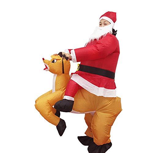sakj-da KostümstützenWeihnachtsaufführung Kostüme, Seltsame Alte Männer Aufblasbare Leistung Kostüm Puppe Tanz Tischwäsche, Originalfarbe, 150-190Cm