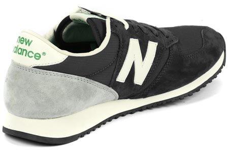 New Balance U420, Chaussures Premiers Pas Homme Noir, gris, beige et vert
