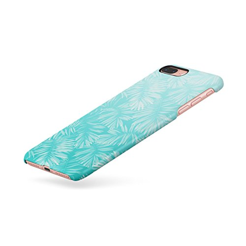Turquoise Tropical Jungle Leaves Ombre Dünne Rückschale aus Hartplastik für iPhone 7 Plus & iPhone 8 Plus Handy Hülle Schutzhülle Slim Fit Case cover Turquoise Jungle
