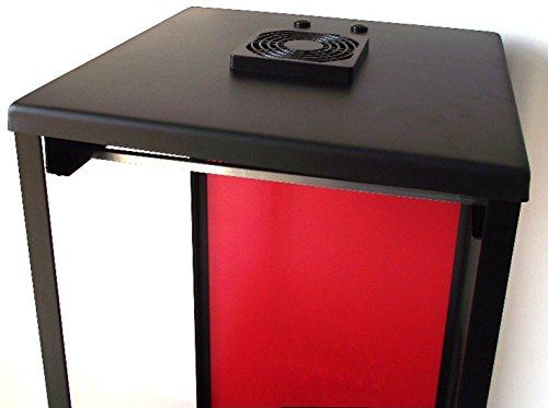Biltong Maker Biltong Box Beef Jerky Dehydrator Biltong Spice with RED Back Panel, 100g FREE SPICE and Light Bulb