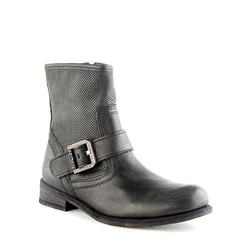 Felmini - Damen Schuhe - Verlieben Gredo 8265 - Cowboy & Biker Stiefel - Echte Leder - Schwarz - 0 EU Size Schwarz
