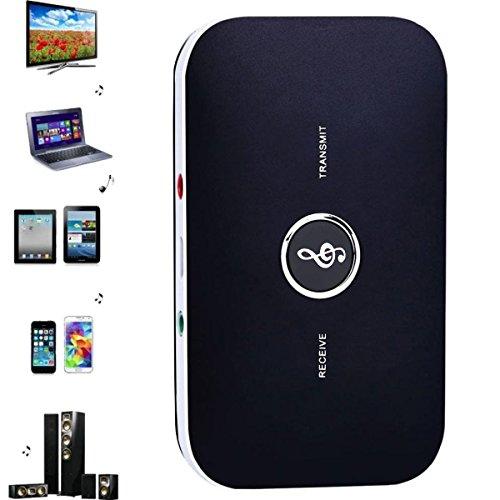 Bluetooth 4.1 Transmitter und Empfänger, TechCode Tragbarer Audio Bluetooth 4.1 Sender und Empfänger 2-in-1 Drahtloser 3.5mm Audio Adapter für TV / Home Stereo System Kopfhörer Lautsprecher MP3 MP4 / iPhone