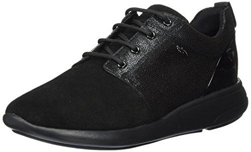 Geox d ophira a, scarpe da ginnastica basse donna, nero (black), 41 eu