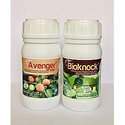 BIOKNOCK® + Avenger® (1.250 m2). Pack Insectos/Pulgón/Hongos; Fito-fortificantes reparadores. Multi-acción Plantas Interior/Exterior/ Cultivos. Ecológico