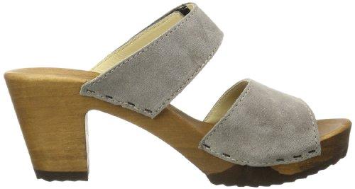 Woody - Silke, Sabots Pour Femme Grey (grau (velour Taupe))