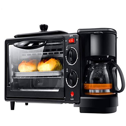 BEN-YI Mini-Ofen - Multifunktionsofen-Frühstücksmaschine Startseite 3-in-1-Toaster für Kaffee Mini-Elektroofen-Omelett