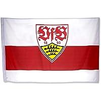 VfB Stuttgart Fahne / Flagge mit Wappen rot/weiss 120 x 80cm