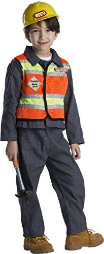 Kostüme Frauen Bauarbeiter (Dress Up America 513-T4+526 - Bauarbeiter Kostüm, 3-4 Jahre, Taille 69 cm, Größe 97 cm,)