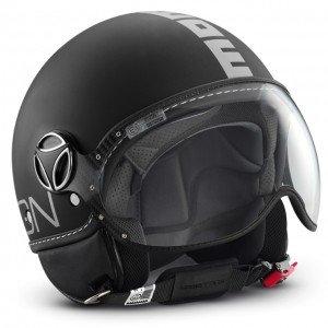Momo Design - Classic - Casco L negro opaco - plateado