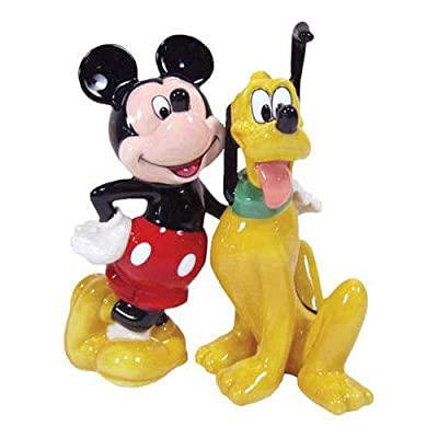 Disney Mickey Mouse Pluto and Mickey BFF Salt and Pepper Shakers by Westland Giftware