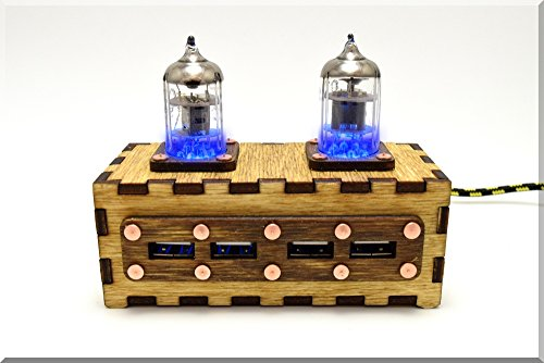 Preisvergleich Produktbild Handarbeit Holz BLAU Pentode Radioröhre 4 ports USB HUB mit USSR Qualität singen. Handmade Wooden USB HUB with Durable Knit Nylon Cable. Steampunk/Industrial Style ####### (Tags: Metal Handgemacht Handgefertigt Handwerk Einzigartiges Handmade Handwork Handcraft Exclusive Unique Vintage Gadget Device. Idee Weihnachts Einzigartiges Geschenk Unikat. For Computer Tablet PC Notebook Laptop Mac)