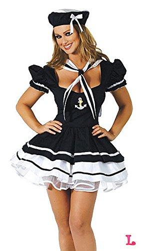 DLucc Japan Marineblau Seemann Kleid weibliche Matrosen Frau lebt Diskothek Bühnenkostüme , #1 (Kostüm Frau Pirat)