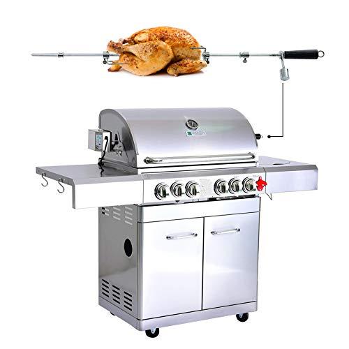 GREADEN- BBQ Grill Barbecue À Gaz INOX DÖNER- 4 BRÛLEURS+...