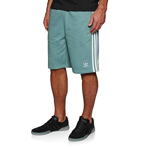 Streifen-baumwoll-shorts (adidas Herren 3-Streifen Shorts, Vapour Steel, L)