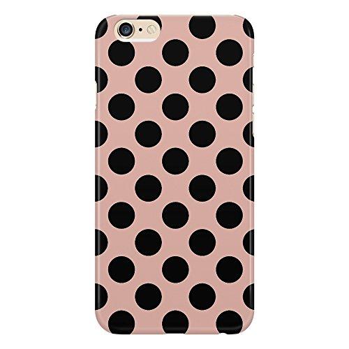 Carcasa de móvil, funda protectora a lunares negros sobre fondo rosa. Diseño de círculos. Elegante, clásica, moderna y de moda. Para iPhone 4/4S/5/5S/5SE/5C/6/6S/6plus/6s Plus Samsung S3/S3Neo/S4/s4mini/s5/s5mini/s6/Note