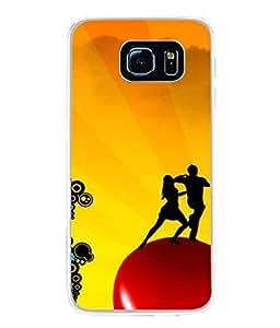 FUSON Designer Back Case Cover for Samsung Galaxy S6 Edge+ :: Samsung Galaxy S6 Edge Plus :: Samsung Galaxy S6 Edge+ G928G :: Samsung Galaxy S6 Edge+ G928F G928T G928A G928I (Art Classic Guitar Hobby Instrument )
