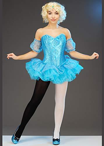 Kostüm Showgirl Zirkus - Magic Box Int. Blauer Zirkus Showgirl Kostüm für Damen im Dumbo-Stil Medium (UK 10-12)