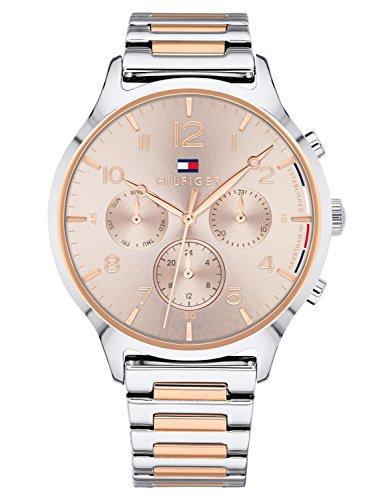 Tommy Hilfiger Reloj Multiesfera para Mujer de Cuarzo con Correa en Acero Inoxidable 1781876