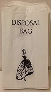 100 x White Paper Sanitary Disposal Bags