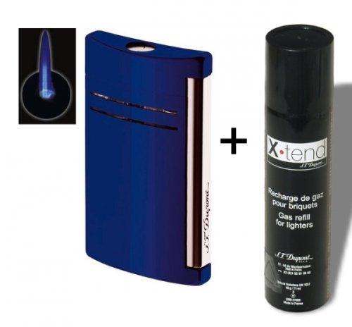 Set Dupont-Feuerzeug X-Tend Maxijet nachtblau glänzend inkl. Gas inkl. Lifestyle-Ambiente Tastingbogen