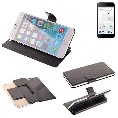 K-S-Trade Schutz Hülle für Thomson Friendly TH101 Schutzhülle Flip Cover Handy Wallet Case Slim Handyhülle bookstyle schwarz