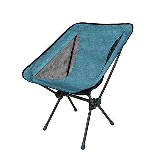 SMBYLL Chaise Pliante, en Aluminium Ultra-léger, Facile à Transporter, Peut être utilisée comme Chaise de Plage, Facile à Installer Chaise Pliante (Couleur : Bleu, Taille : A)